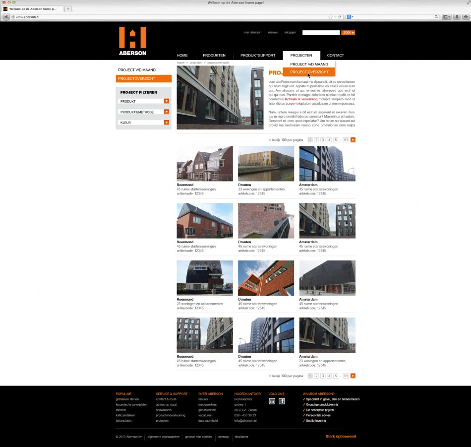website-aberson-projectoverzicht