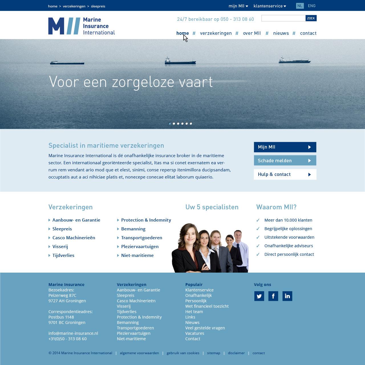 website pagina's MII