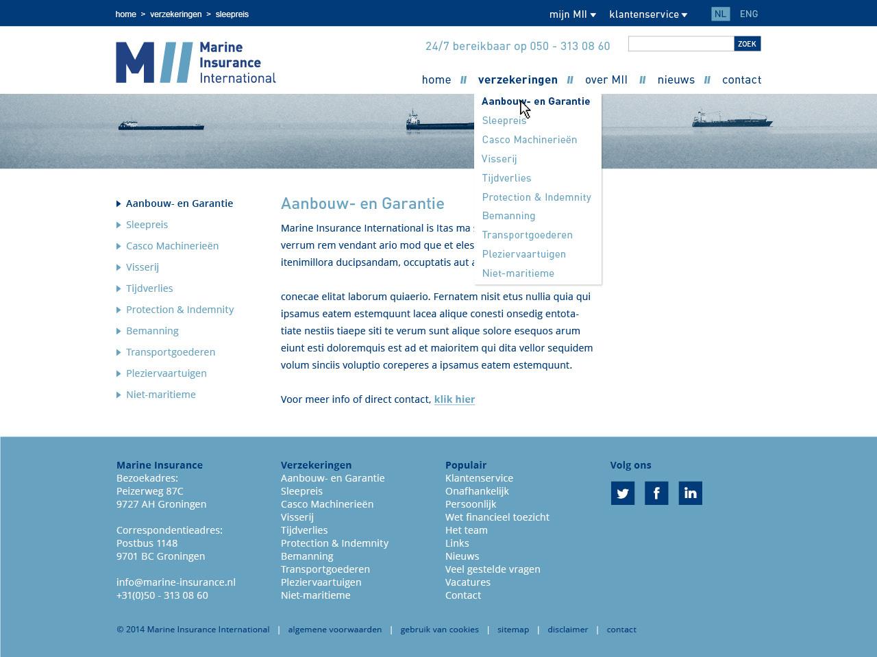 website pagina's MII2
