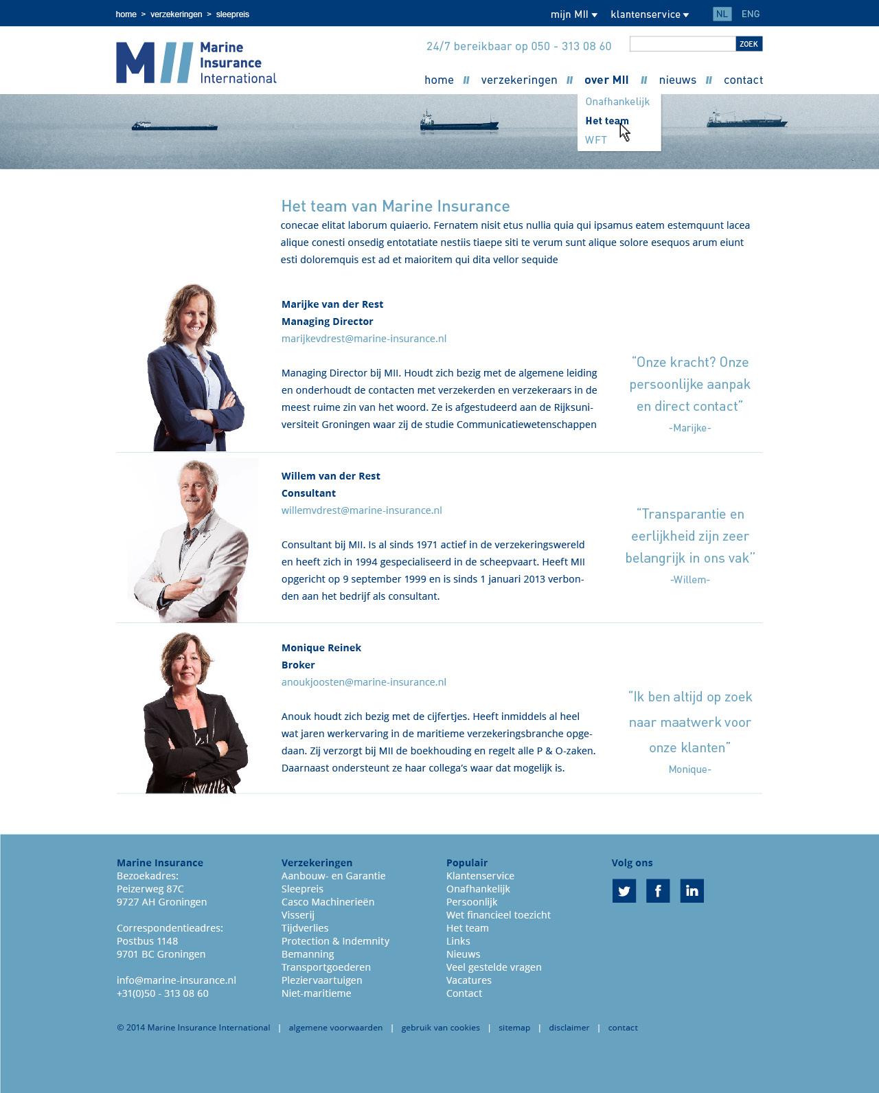 website pagina's MII3