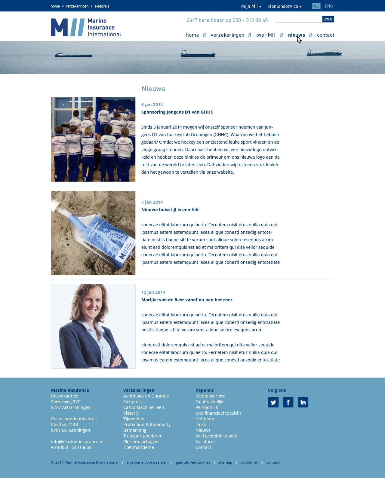 website pagina's MII4