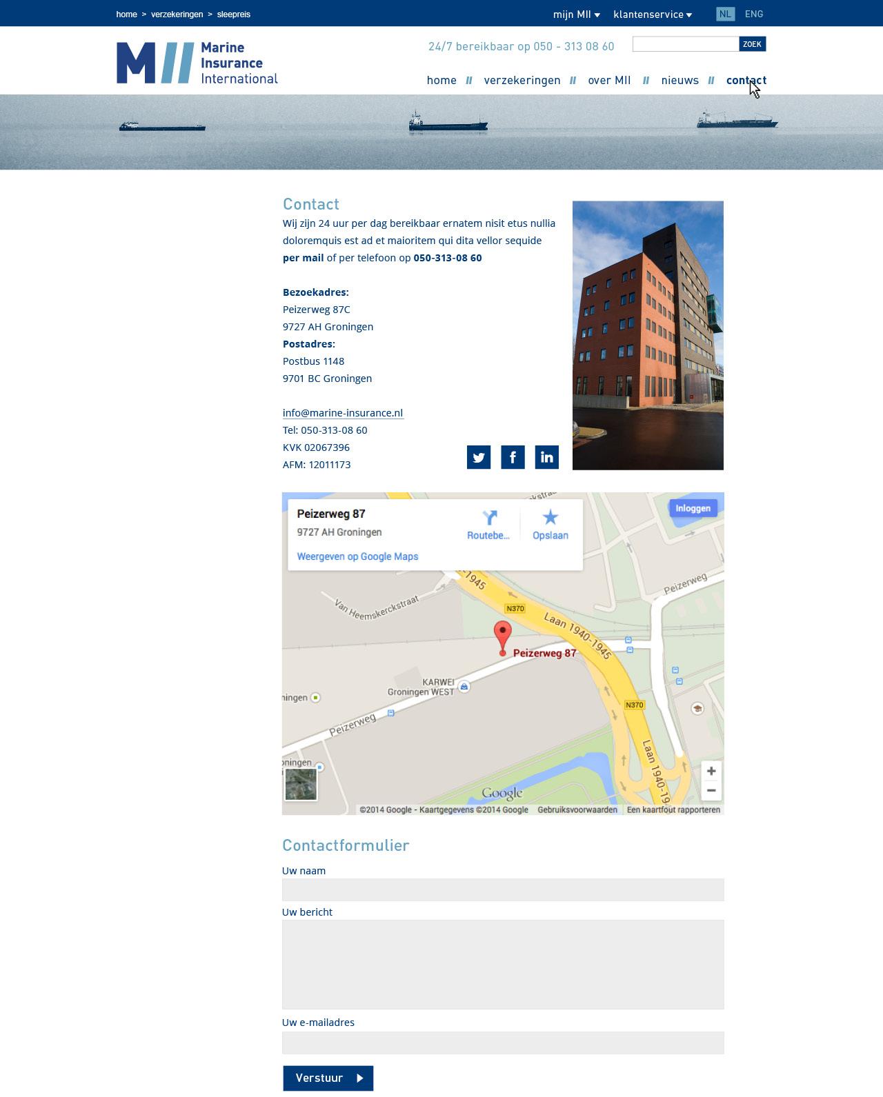 website pagina's MII5